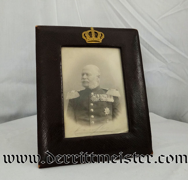 SAXE-ALTENBURG'S HERZOG ERNST 1st's FRAMED PHOTOGRAPH - Imperial German Military Antiques Sale