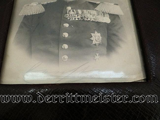 SAXE-ALTENBURG'S HERZOG ERNST 1st's FRAMED PHOTOGRAPH - Imperial German Military Antiques Sale