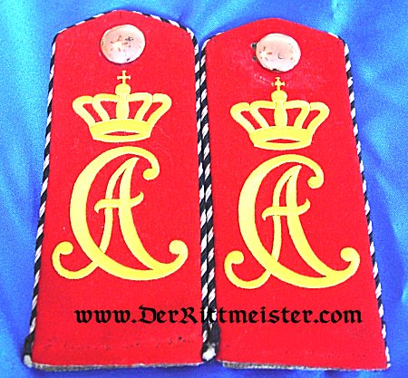 SAXE-WEIMAR - SHOULDER STRAPS - ONE-YEAR-VOLUNTEER - INFANTERIE-REGIMENT Nr 94 - Imperial German Military Antiques Sale