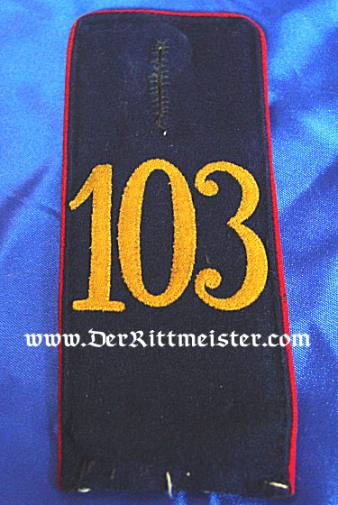 PAIR OF ENLISTED MAN SHOULDER STRAPS - INFANTERIE-REGIMENT Nr 103 - SAXONY - Imperial German Military Antiques Sale