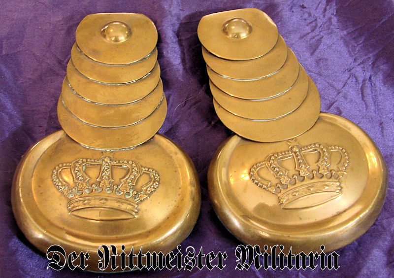 SAXONY - EPAULETTES - ENLISTED MAN - GARDE-REITER-REGIMENT - Imperial German Military Antiques Sale