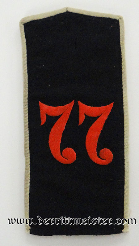 PRUSSIA - SHOULDER STRAP - ENLISTED MAN - INFANTERIE–REGIMENT Nr 77 - Imperial German Military Antiques Sale