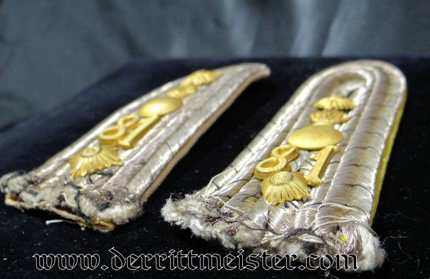 FELDARTILLERIE-REGIMENT Nr 81 HAUPTMANN'S SHOULDER BOARDS - PRUSSIA - Imperial German Military Antiques Sale