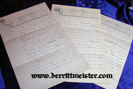 THREE OFFICER PATENTS - SIGNED - KAISER WILHELM I - KAISER WILHELM II - Imperial German Military Antiques Sale