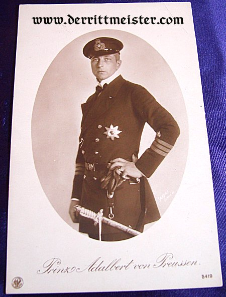 POSTCARD - PRINZ ADALBERT - PRUSSIA - Imperial German Military Antiques Sale