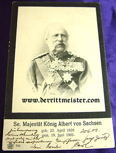 POSTCARD - KÖNIG ALBERT - SAXONY - Imperial German Military Antiques Sale