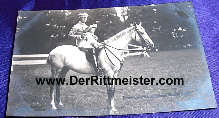 POSTCARD - KRONPRINZ WILHELM - OLDEST SON PRINZ WILHELM - Imperial German Military Antiques Sale