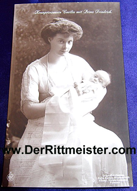 POSTCARD - KRONPRINZESSIN CECILIE - PRINZ FRIEDRICH - Imperial German Military Antiques Sale