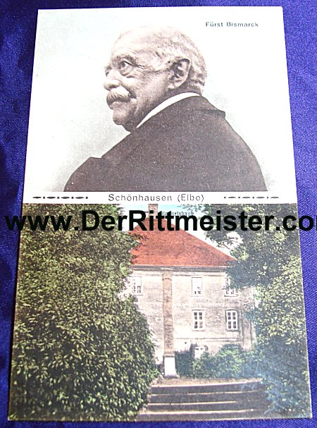 POSTCARD - OTTO von BISMARCK AND FAMILY HOME - Imperial German Military Antiques Sale