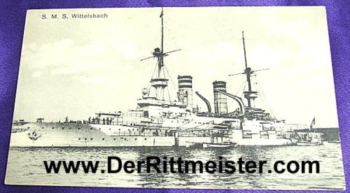 POSTCARD - S.M.S. WITTELSBACH - Imperial German Military Antiques Sale