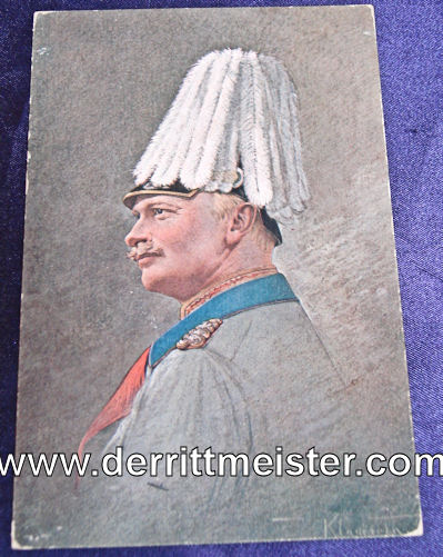 COLOR POSTCARD - KÖNIG FRIEDRICH AUGUST - SAXONY III - Imperial German Military Antiques Sale