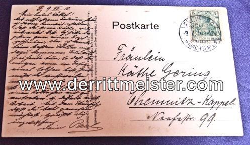 COLOR POSTCARD - KÖNIG FRIEDRICH AUGUST - SAXONY III - Imperial German Military Antiques Sale