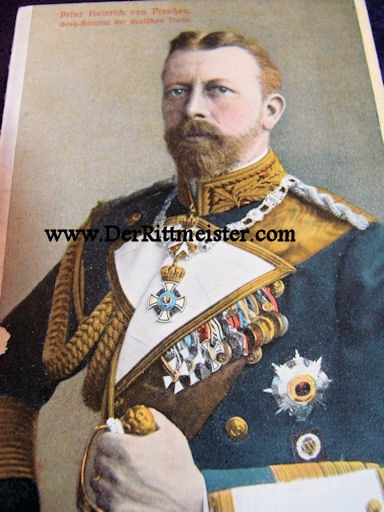 COLOR POSTCARD - PRINZ HEINRICH - GROßADMIRAL'S UNIFORM - Imperial German Military Antiques Sale