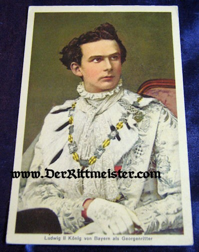 COLOR POSTCARD - KÖNIG LUDWIG II - BAVARIA - Imperial German Military Antiques Sale