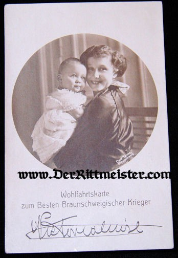 POSTCARD - DUCHESS VIKTORIA LUISE - SON - BRAUNSCHWEIG - Imperial German Military Antiques Sale