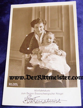 HERZOGIN VIKTORIA LUISE - YOUNG CHILD - BRAUNSCHWEIG - Imperial German Military Antiques Sale