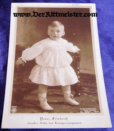 POSTCARD - KRONPRINZ WILHELM'S SON - PRINZ FRIEDRICH - Imperial German Military Antiques Sale