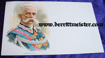 POSTCARD - KING UMBERTO - ITALY - Imperial German Military Antiques Sale