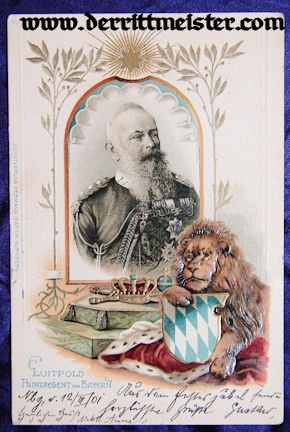 COLOR POSTCARD - PRINZ REGENT LUITPOLD - BAVARIA - Imperial German Military Antiques Sale