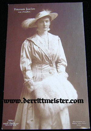 POSTCARD - PRINCESS MARIE AUGUSTE - ANHALT - PRINCE JOACHIM'S WIFE - Imperial German Military Antiques Sale