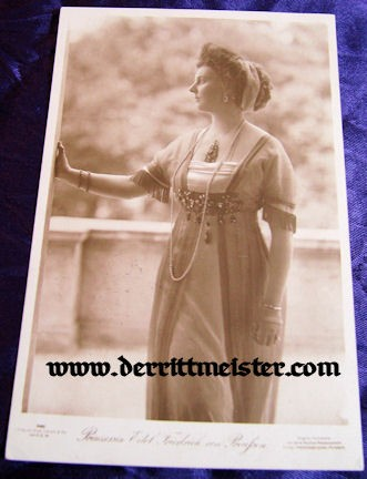 POSTCARD - PRINCESS EITEL FRIEDRICH - Imperial German Military Antiques Sale