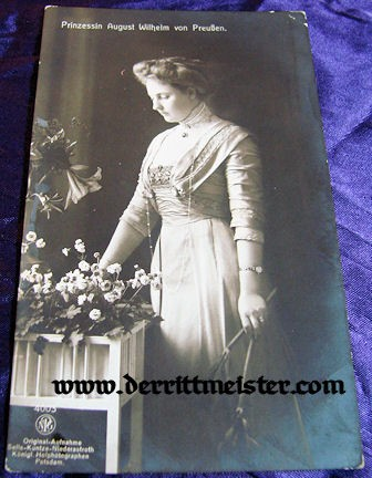 POSTCARD - PRINCESS ALEXANDRA VIKTORIA - Imperial German Military Antiques Sale