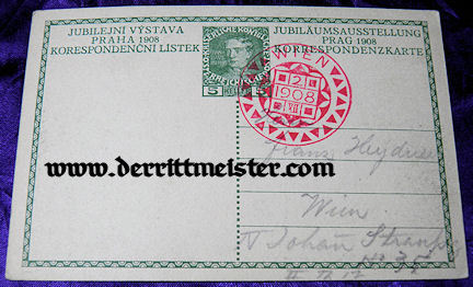 POSTCARD - 60 YEARS - AUSTRIAN THRONE -KAISER FRANZ JOSEF - Imperial German Military Antiques Sale
