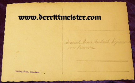 POSTCARD - FUNERAL - PRINZ FRIEDRICH SIGISMUND - Imperial German Military Antiques Sale