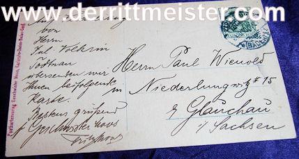 POSTCARD - GROSSHERZOG FRIEDRICH II - BADEN - Imperial German Military Antiques Sale