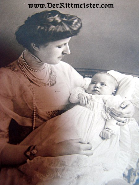 POSTCARD - DUCHESS FEODORA AND PRINZESSIN SOPHIE - SAXE WEIMAR - Imperial German Military Antiques Sale