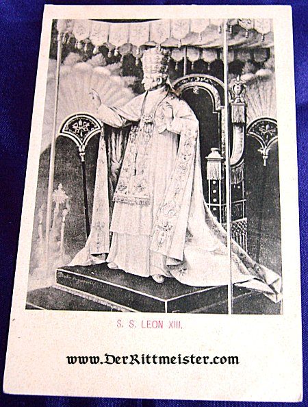POSTCARD - POPE LEON XIII - Imperial German Military Antiques Sale