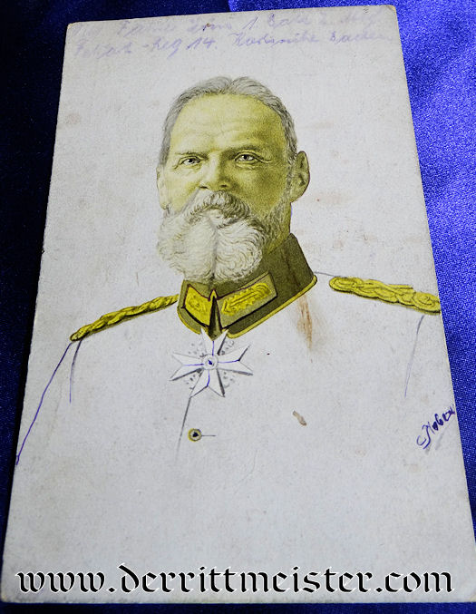 POSTCARD - BAVARIAN GENERALFELDMARSCHALL PRINZ LEOPOLD - Imperial German Military Antiques Sale