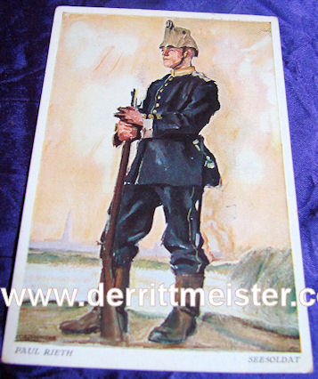 COLOR POSTCARD - TROOPER - SEE-Bataillon - Imperial German Military Antiques Sale