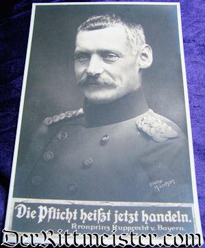 POSTCARD - BAVARIA CROWN PRINZ RUPPRECHT - Imperial German Military Antiques Sale