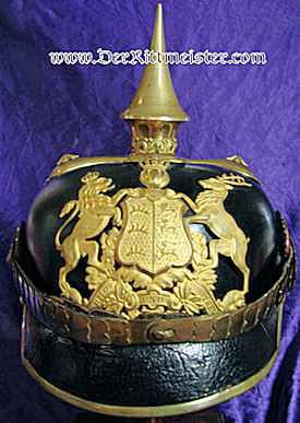 WÜRTTEMBERG - PICKELHAUBE - OFFICER'S  - INFANTERIE LINE-REGIMENT - Imperial German Military Antiques Sale