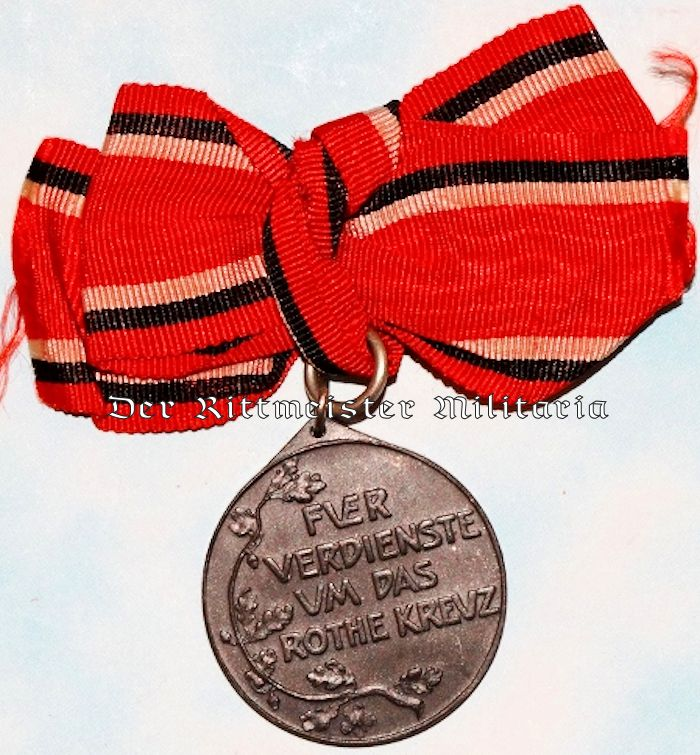 RED CROSS WORKER MEDAL 3rd CLASS WITH BOW - Imperial German Military Antiques Sale