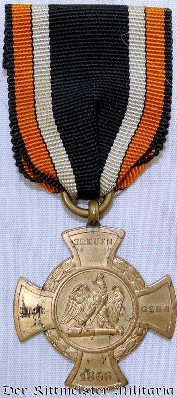 1866 TREUEN KRIEGERN KREUZ - PRUSSIA - Imperial German Military Antiques Sale