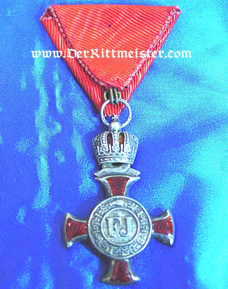 FRANZ-JOSEF SERVICE CROSS WITH CROWN - AUSTRIA - Imperial German Military Antiques Sale
