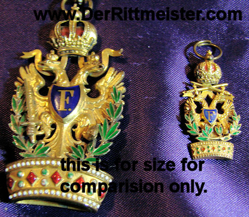 MINIATURE - ORDER OF THE IRON CROWN 3rd CLASS WITH WAR DECORATION - AUSTRIA - Imperial German Military Antiques Sale