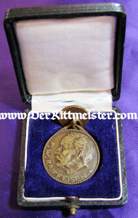 CASED MEDAL - CREDIT UNIONS - Imperial German Military Antiques Sale