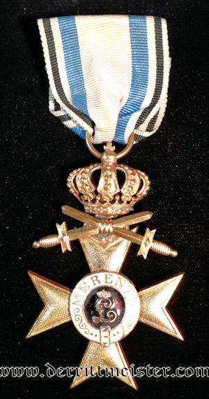 MILITARY SERVICE CROSS 1st CLASS WITH CROWN & SWORDS - BAVARIA - Imperial German Military Antiques Sale