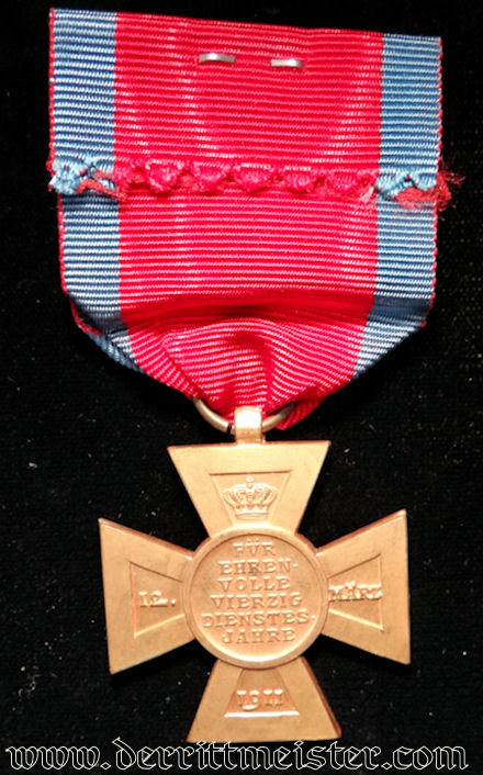 PRINZREGENT LUITPOLD MEDAL FOR FORTY-YEARS LONG-SERVICE - BAVARIA - Imperial German Military Antiques Sale