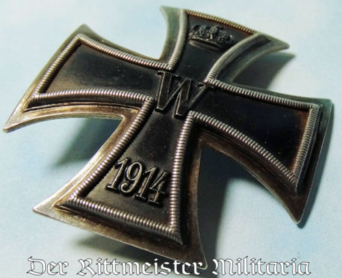 ENGRAVED VAULTED 1914 IRON CROSS 1st CLASS - Imperial German Military Antiques Sale