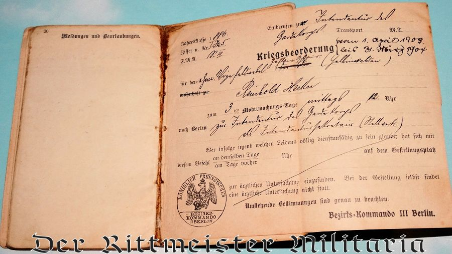 SOLDIER'S KÖNIGIN AUGUSTA GARDE-GRENADIER-REGIMENT Nr 4 MILITÄRPAß & CdV - PRUSSIA - Imperial German Military Antiques Sale