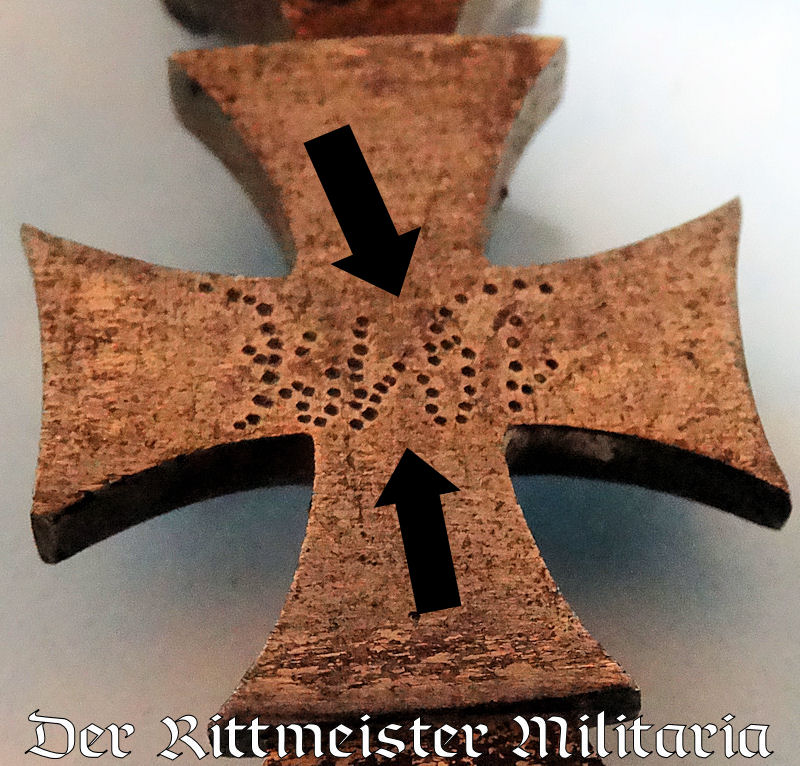 SHRAPNEL-HANDLED PATRIOTIC LETTER OPENER WITH DECORATIVE IRON CROSS - Imperial German Military Antiques Sale