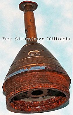 DESK CIGAR CUTTER FASHIONED FROM ARTILLERY SHELL FUSE - Imperial German Military Antiques Sale
