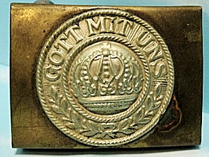 ENLISTED MEN'S PRE WW I BELT BUCKLE - PRUSSIA - Imperial German Military Antiques Sale
