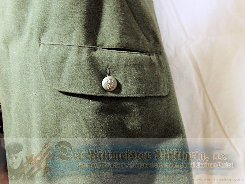 M-1915 INFANTERIE-REGIMENT Nr 121 HAUPTMANN'S FELDGRAU FELDBLUSE TUNIC - WÜRTTEMBERG - Imperial German Military Antiques Sale