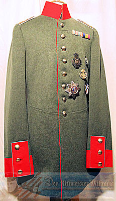 M-1910 INFANTERIE-REGIMENT Nr 121 HAUPTMANN'S FELDGRAU TUNIC BUT ATTACHED TO GREAT GERMAN GENERAL STAFF - WÜRTTEMBERG - Imperial German Military Antiques Sale