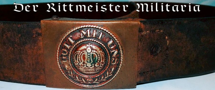 PRE WW I ENLISTED MAN/NCO'S BELT AND BUCKLE - PRUSSIA - Imperial German Military Antiques Sale